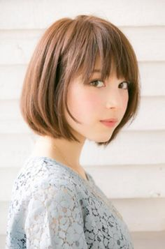ドライブフォーガーデン(drive for garden) 【GARDEN/drive for garden】 スタイリング簡単愛されボブ☆ Girl Short Hair, Short Hair Cuts, Short Bob Hairstyles, Girl Hairstyles, Medium Hair Styles, Short Hair Styles, Japanese Hairstyle, My Hairstyle, Asian Hair