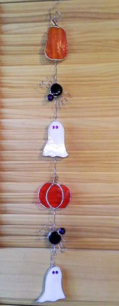 Halloween Stained Glass by ClearViewGlass on Etsy
