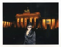 """ Yoko Ono at the Brandenburg Gate, Berlin at 2:09 a.m.  Taken at 09.09.09+GMT@9:09  I was in Berlin to attend an exhibition, ""NochNichtMehr"" at the Heinrich Boell Foundation in  which my work was being exhibited, and to catch up with old friends.    AFFI Visit Our website here http://myselfdevelopmentplan.com"
