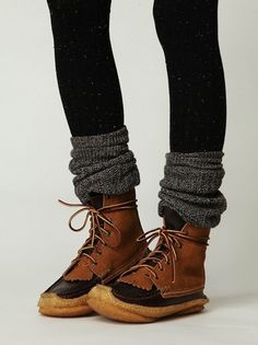 moccasins and layers