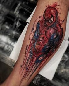 Watercolor spiderman by Felipe Rodrigues Fe Rod