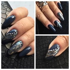 Nail art nails in gel with nail art decor