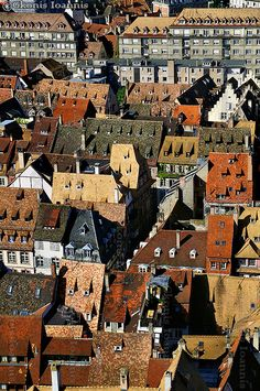 A collection of roofs - Strasbourg, Alsace, France
