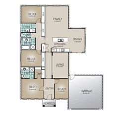 The Katherine has the Master Bedroom and Study to the front of the home with secondary bedrooms in a separate zone. The home offers a central kitchen and living areas for entertaining and all-important family time. Store all the boys toys in oversized double Garage.