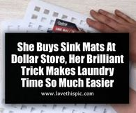 She Buys Sink Mats At Dollar Store, Her Brilliant Trick Makes Laundry Time So Much Easier