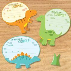 darling dinosaur birthday party invitations
