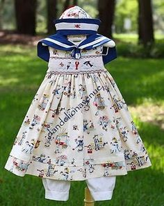smocked sailor dress