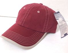 Plain Blank FADED VINTAGE-WASH HAT Maroon Lived-In/Worn Look Casual Relaxed Dad #PortAuthority #BaseballCap