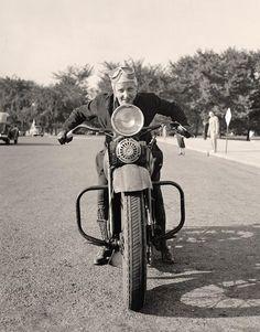 Girl on Motorcycle 1937