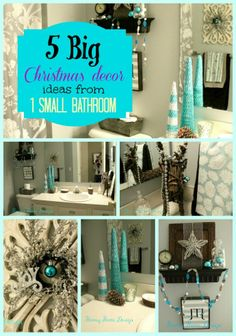 Hometalk :: Big Christmas Decor Ideas From 1 Small Bathroom - a room you shouldn't forget to decorate Blue Christmas, Christmas 2014, Christmas And New Year, All Things Christmas, Christmas Crafts, Christmas Ideas, Holiday Ideas, Merry Christmas, Christmas Bathroom Decor