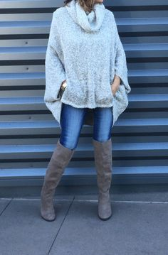 The ultimate fall boots! Available in 2 colors...both go with everything! The thicker heel is perfect for fall/winter weather, and the height would be so cute over a pair or tights or leggings. We can