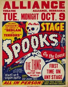 Magic Thurston Skull Devil Spooky Gal Cat Vintage Poster Repro FREE SHIPPING