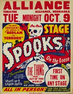 1951 Spook Show Poster.