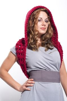 Infinity Hooded Cowl Crochet-on etsy Love the idea