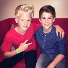 You don't understand how much I love this picture. I LITERALLY CRIED. I'm serious. It's my phone wallpaper now. I ❤️ you Carson and MattyB!