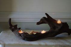 driftwood candleholder - cool