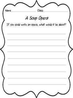 FREE - A Soup Opera (Children's Lit & Music Mini Lesson)