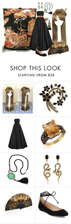 """""""Gothic autumn Concubine"""" by charlie-aw-easter on Polyvore featuring Anne Klein, Reem Acra, LeVian, Kenneth Jay Lane, Diego Percossi Papi, Khu Khu, Karl Lagerfeld and Blumarine"""