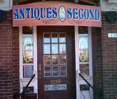 Antiques on Second, great shop for unusual and vintage finds