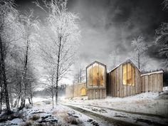 Winter Cabin Design and Render...Find a Renderer on Easy Render - The 3D Rendering Platform