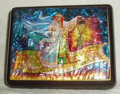 Russian Lacquer box Mother of pearl Magic Flying by tanyaHPSrus