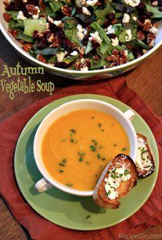 Creamy Autumn Vegetable Soup - Vegan