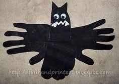 Handprint & Footprint Bat Craft