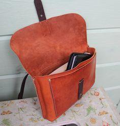 Женская кожаная сумка-кошелек. натуральная кожа   «Ламбада-маркет»