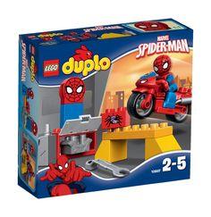 LEGO DUPLO Spider-Man Web-Bike Workshop Figure: LEGO: Amazon.co.uk: Toys & Games