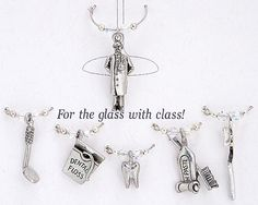 Dental wine charms...I want these!