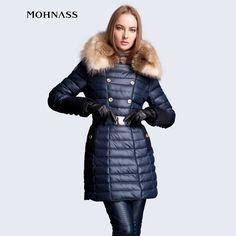 Günstige MOHNASS 2015 Winter parka Frau Duck Down Elegante Jacke Schlank Fashion Coat Echten Großen winter jacke frauen Freies Verschiffen 2A7287, Kaufe Qualität Down & Parkas direkt vom China-Lieferanten: