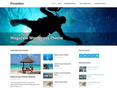 Poseidon is an elegant designed WordPress theme featuring a splendid fullscreen image slideshow. The clean typography and spacious white layout makes it great to share your stories. Best Free Wordpress Themes, Themes Free, Simple Blog, Responsive Layout, Header Image, News Magazines, Creating A Blog, Free Blog, This Or That Questions