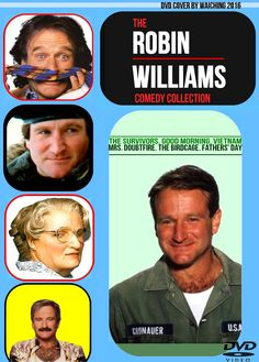 The Robin Williams Comedy Collection (The Survivors. Good Morning Vietnam, Mrs. Doubtfire, The Birdcage, Fathers' Day) custom mock-up DVD cover design concept by Waiching *do not upload or repost to instagram, tumblr, facebook, twitter*