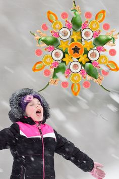 """Catching a snowflake on your tongue never tasted better with """"tropical"""" snowflakes http://www.brookstropicals.com/"""