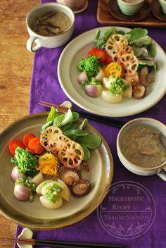 ワンプレートとスープ。緑の濃い野菜と青もじ。 の画像|西野椰季子のマクロビオティックレシピ
