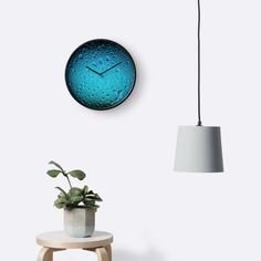 Stylish Cool Blue water drops wall clock by #PLdesign #waterdrops #summer #CoolWaterDrops