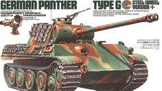Tamiya 35174 Tank Model Kit German Panther Type G Steel Wheel Tamiya Model Kits, Tamiya Models, Plastic Model Kits, Plastic Models, Maquette Tamiya, Patton Tank, Military Drawings, New Aircraft, Model Building Kits