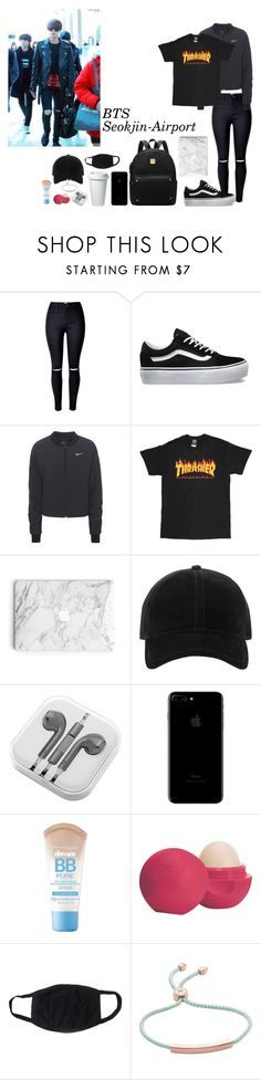 """Sem título #987"" by army-forever ❤ liked on Polyvore featuring Vans, NIKE, rag & bone, PhunkeeTree, Maybelline, Eos and Monica Vinader"