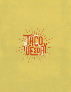 TacoTuesday lettering