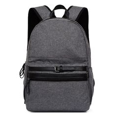 ce6cfbe10da Concise Buckle Strap Canvas Backpack ($10) ❤ liked on Polyvore featuring  bags, backpacks