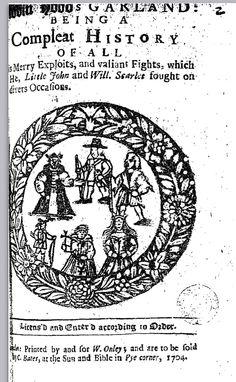 Robin Hood's Garland, 1704