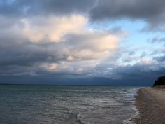 Last#night along the #shore of #beaverisland in #fall with big #clouds
