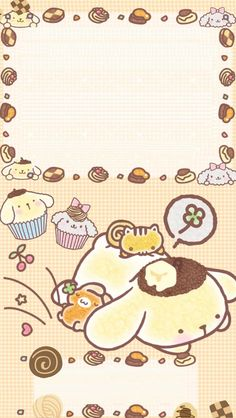 Pom Pom Purin memo pad, as courtesy of Sanrio Sanrio Wallpaper, Cute Pastel Wallpaper, Cute Wallpaper For Phone, Couple Wallpaper, Kawaii Wallpaper, Iphone Wallpaper, Cute Wallpaper Backgrounds, Cute Wallpapers, Sanrio Characters
