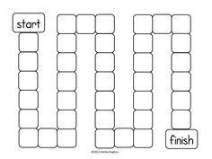 blank board game template printable
