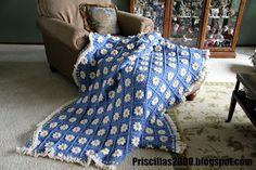 Priscillas: Daisy blanket , African flower blanket and prom
