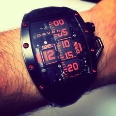 The belt-driven anti-establishment luxury watch. California-made Devon Tread 2 Murder edition watch.