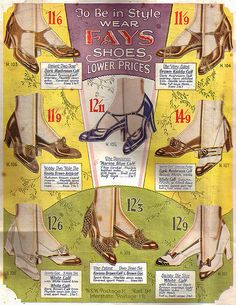 To be in style, wear Fay's Shoes! (1932) #vintage #1930s #fashion #shoes