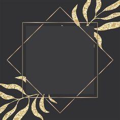 Роскошная золотая и темная открытка с рамкой из тропических листьев Бесплатные векторы   Free Vector #Freepik #vector #freeflower #freeframe #freewedding #freewatercolor
