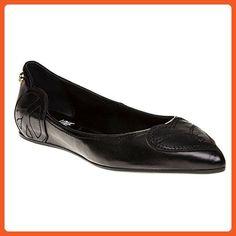 Love Moschino Heart 2 Ballet Womens Shoes Black - Flats for women (*Amazon Partner-Link)