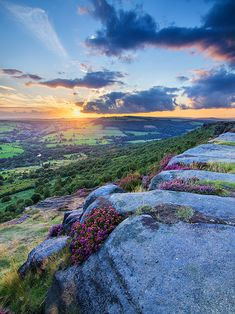 Curbar sunset, Derbyshire, England